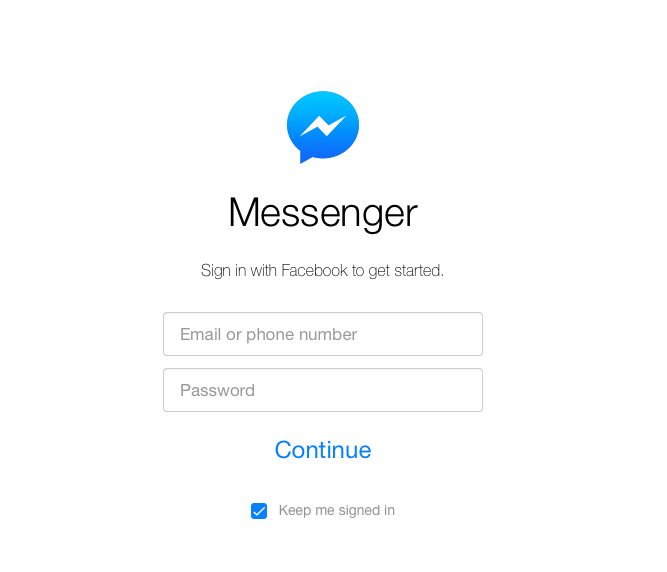 Screenshot messenger.com